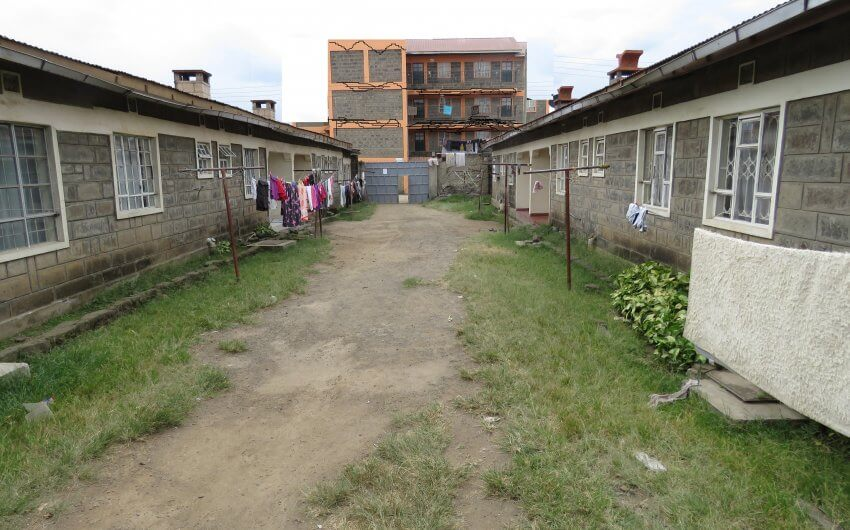 1/4 acre plot with rentals for sale in Naka,Nakuru